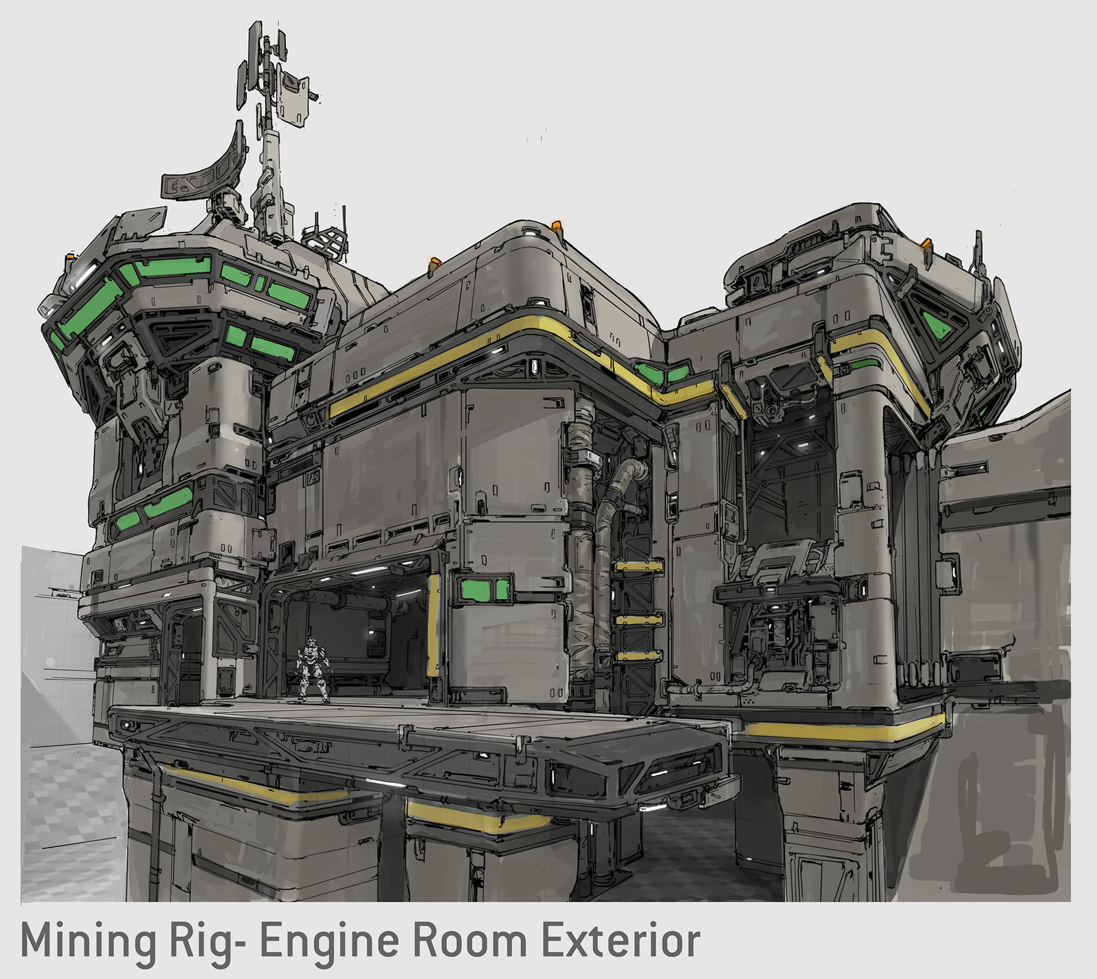 Halo 5 Concept- Rig Engine Room