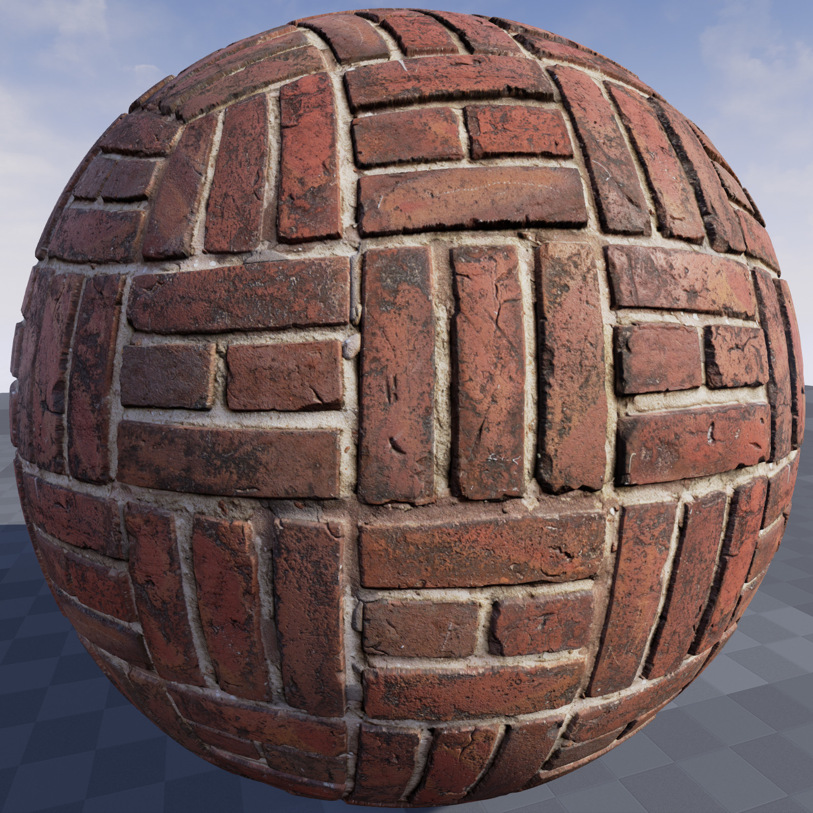 ArtStation - Texture of brick wall in Unreal Engine 4 9