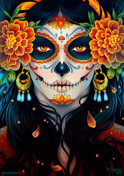 artstation day of the dead maria dimova. Black Bedroom Furniture Sets. Home Design Ideas