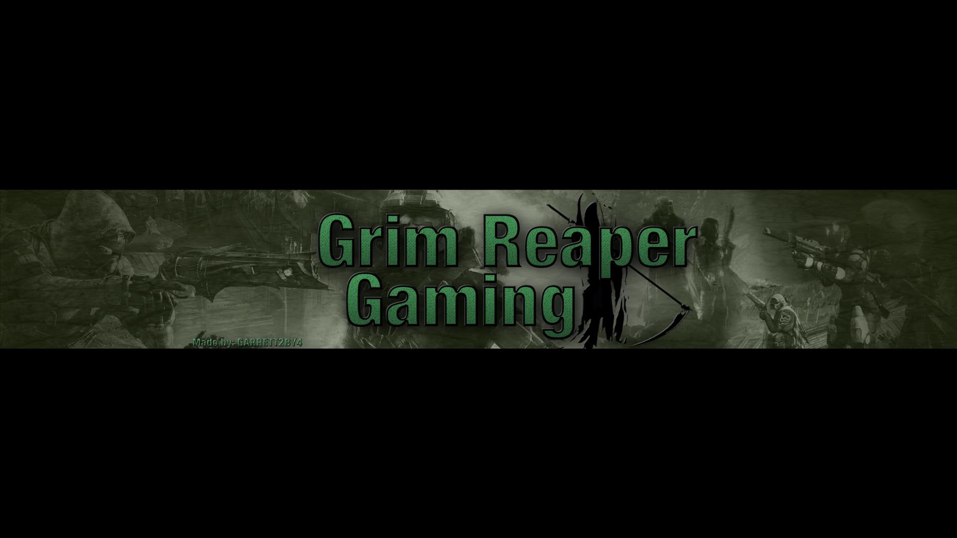 ArtStation - YouTube Channel Art: Grim Reaper Gaming