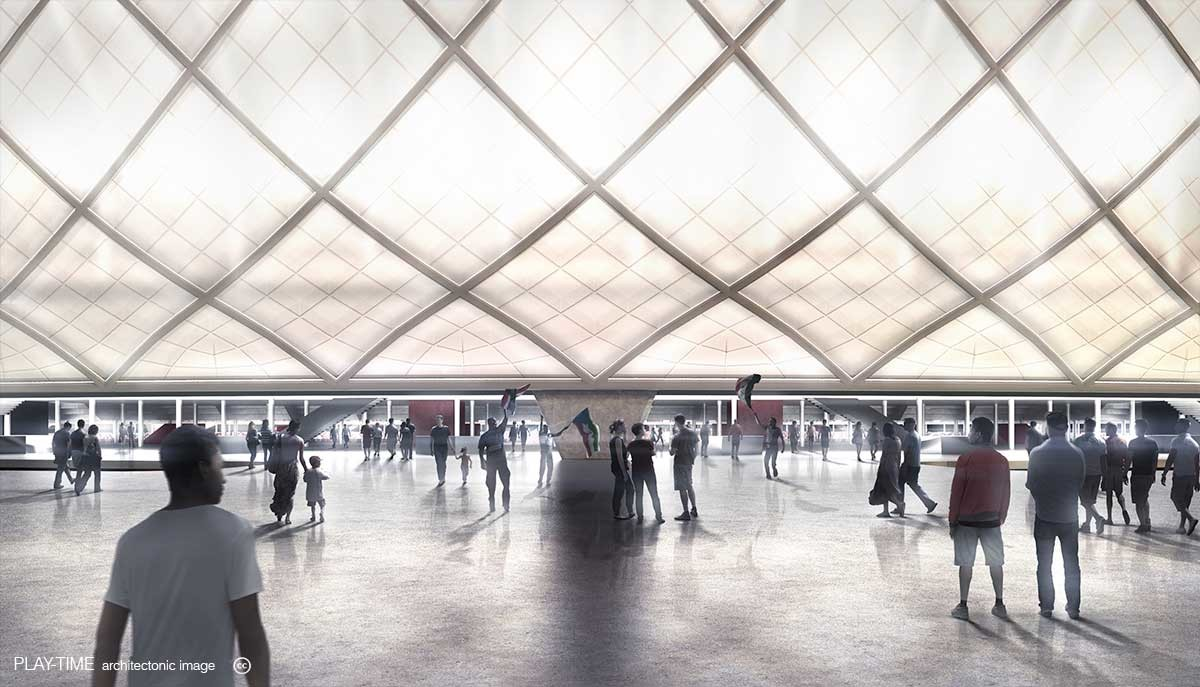 Play time architectonic image metro stadium