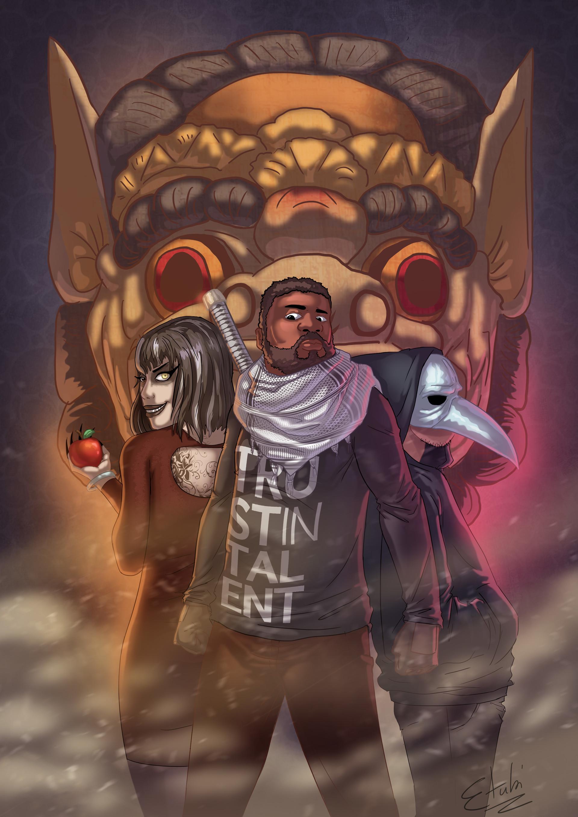 Etubi onucheyo illustration for nmd a3