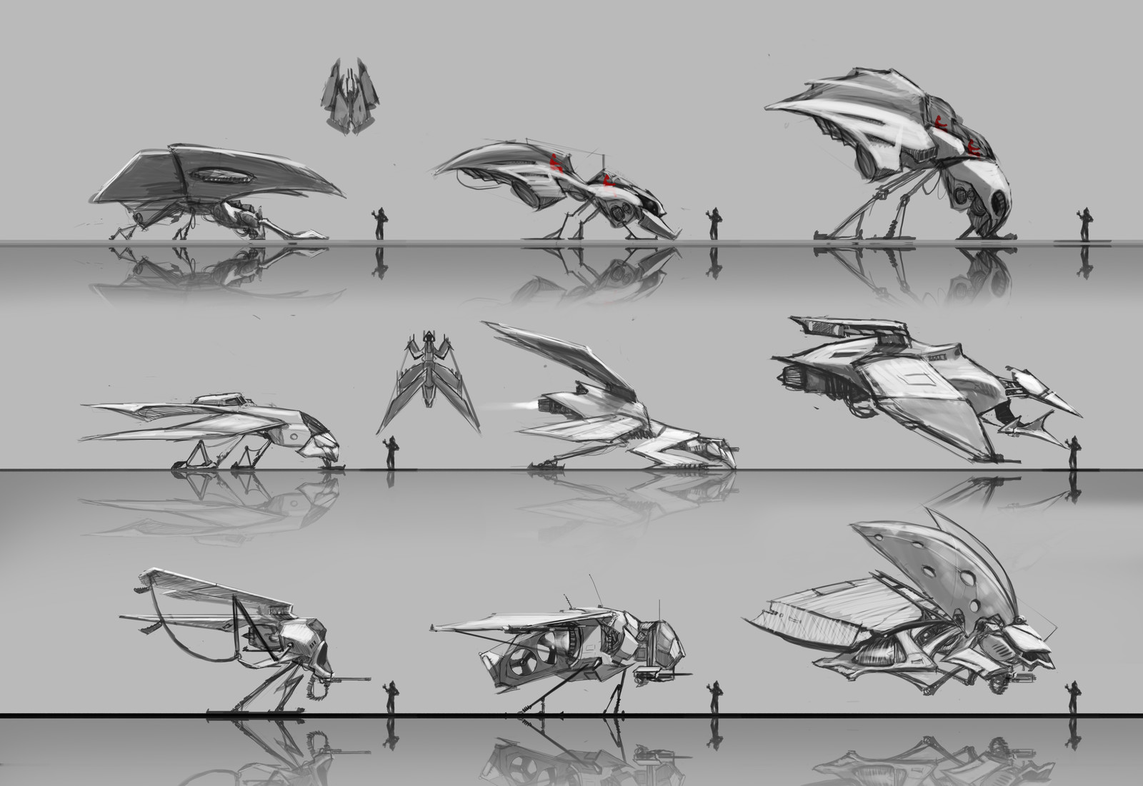 Vehicles sketches