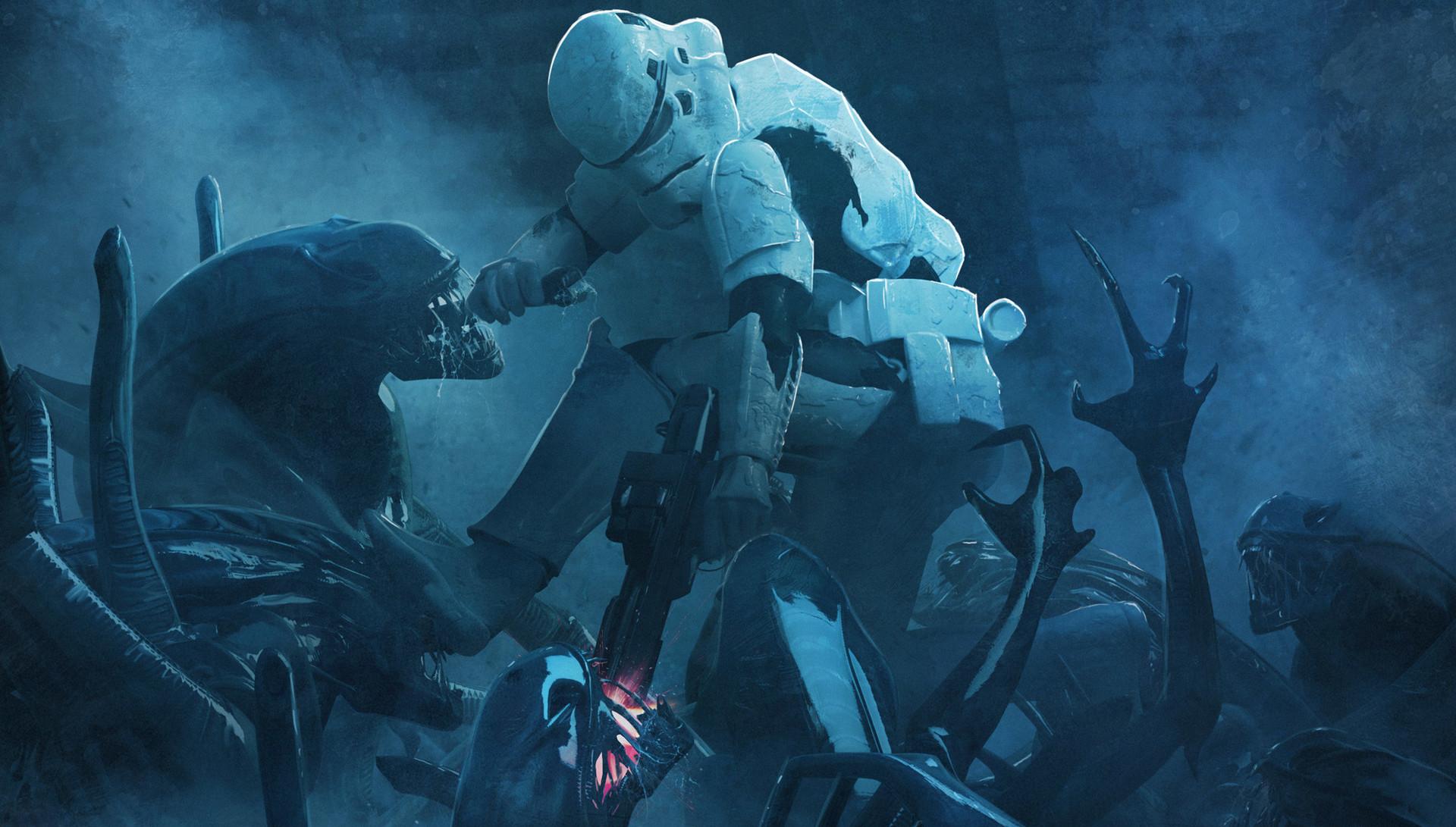 Guillem h pongiluppi guillemhp 501 legion stormtroopers vs aliens detail 1 detail