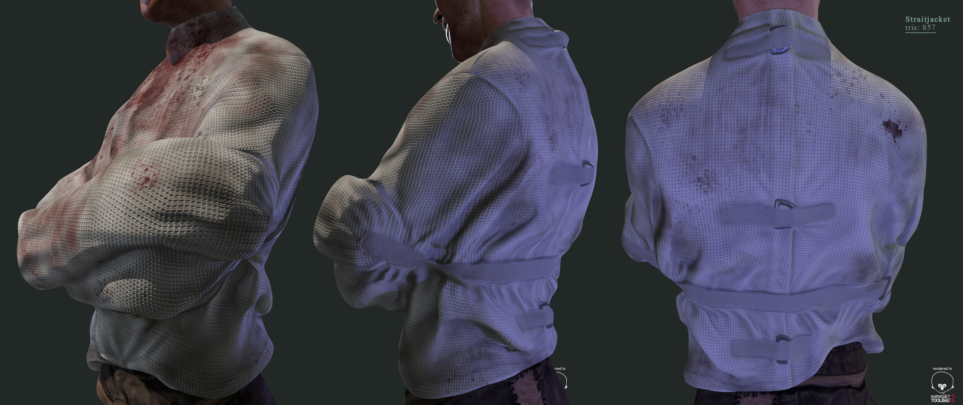 ArtStation - Straight Jacket Low Poly, Wellington Weishaupt