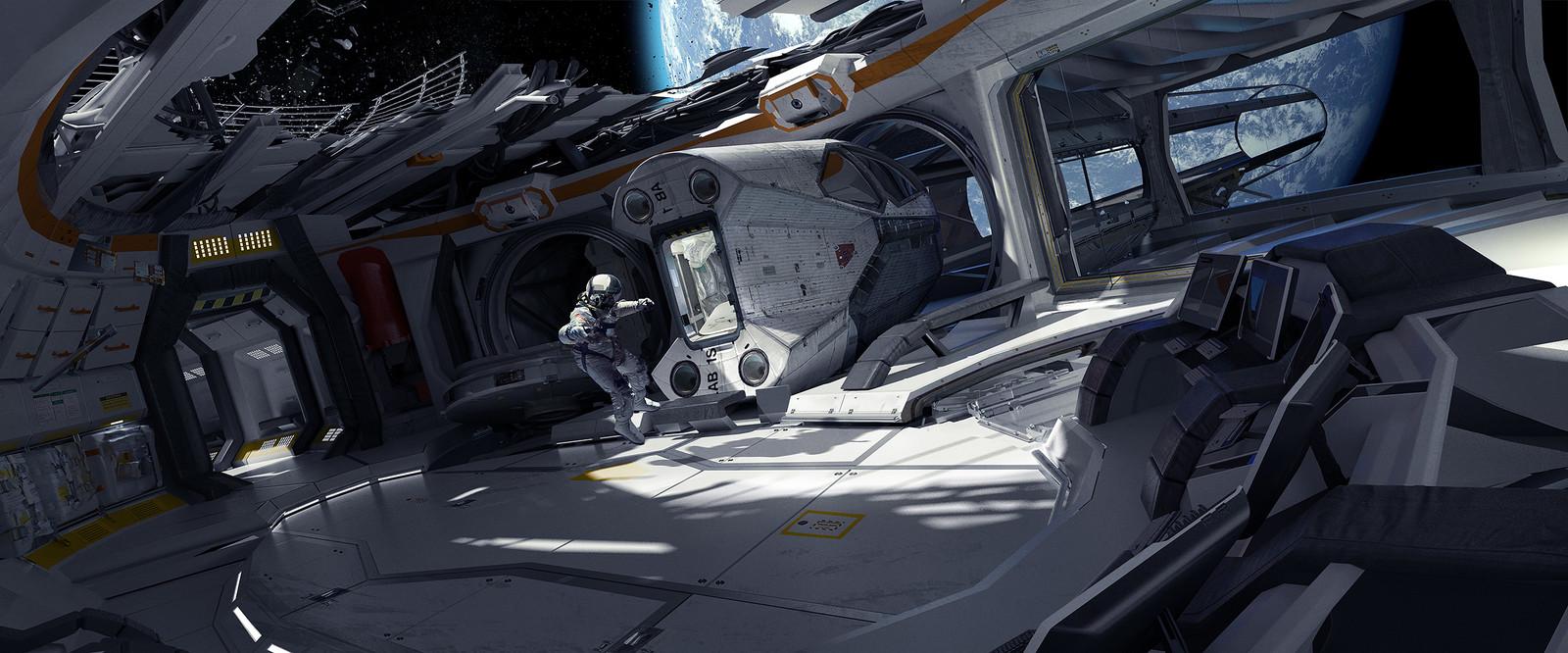 Adrift Space Station