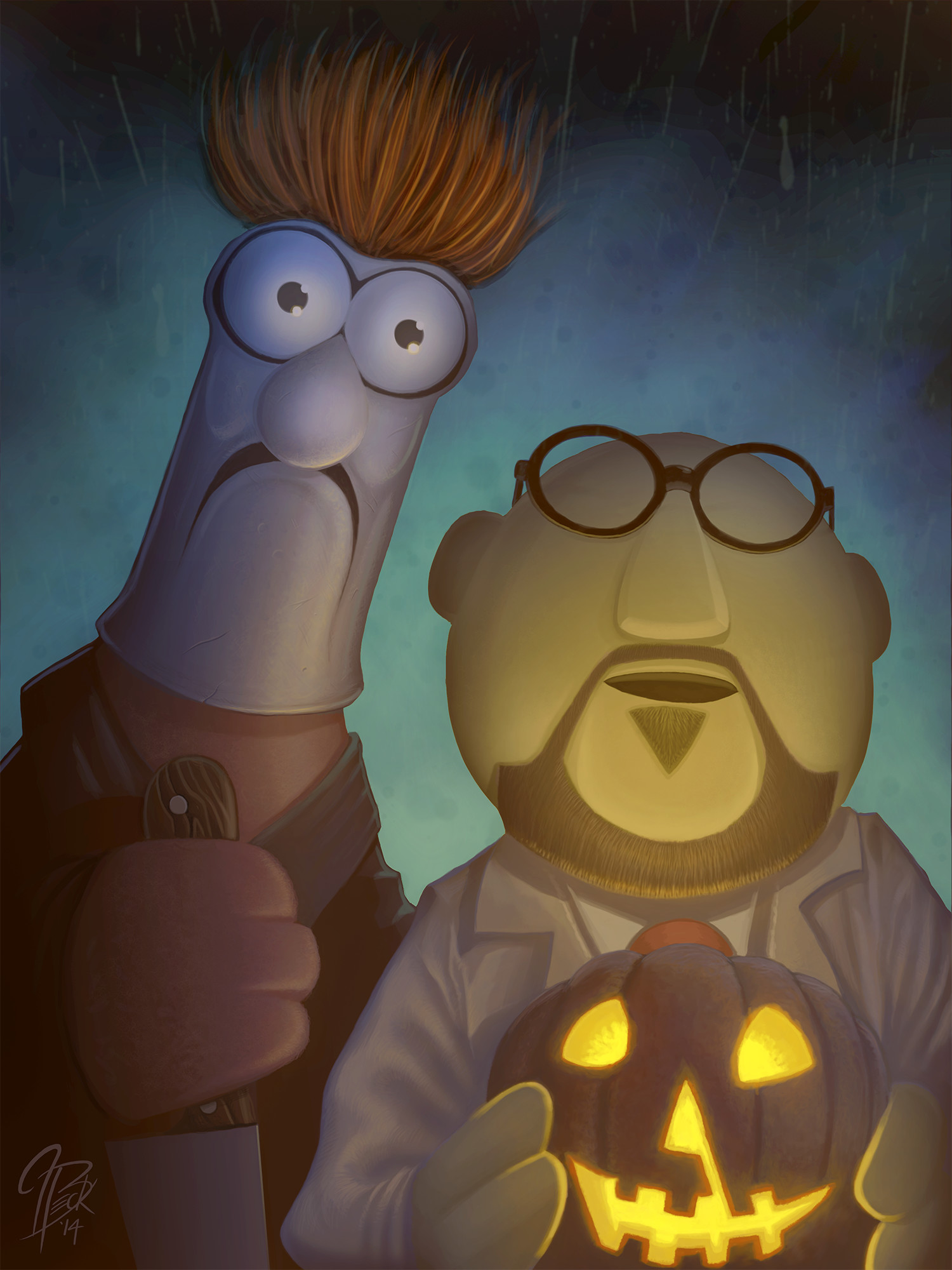 Beaker as Michael Myers; Dr. Bunson Honeydew as Dr. Loomis
