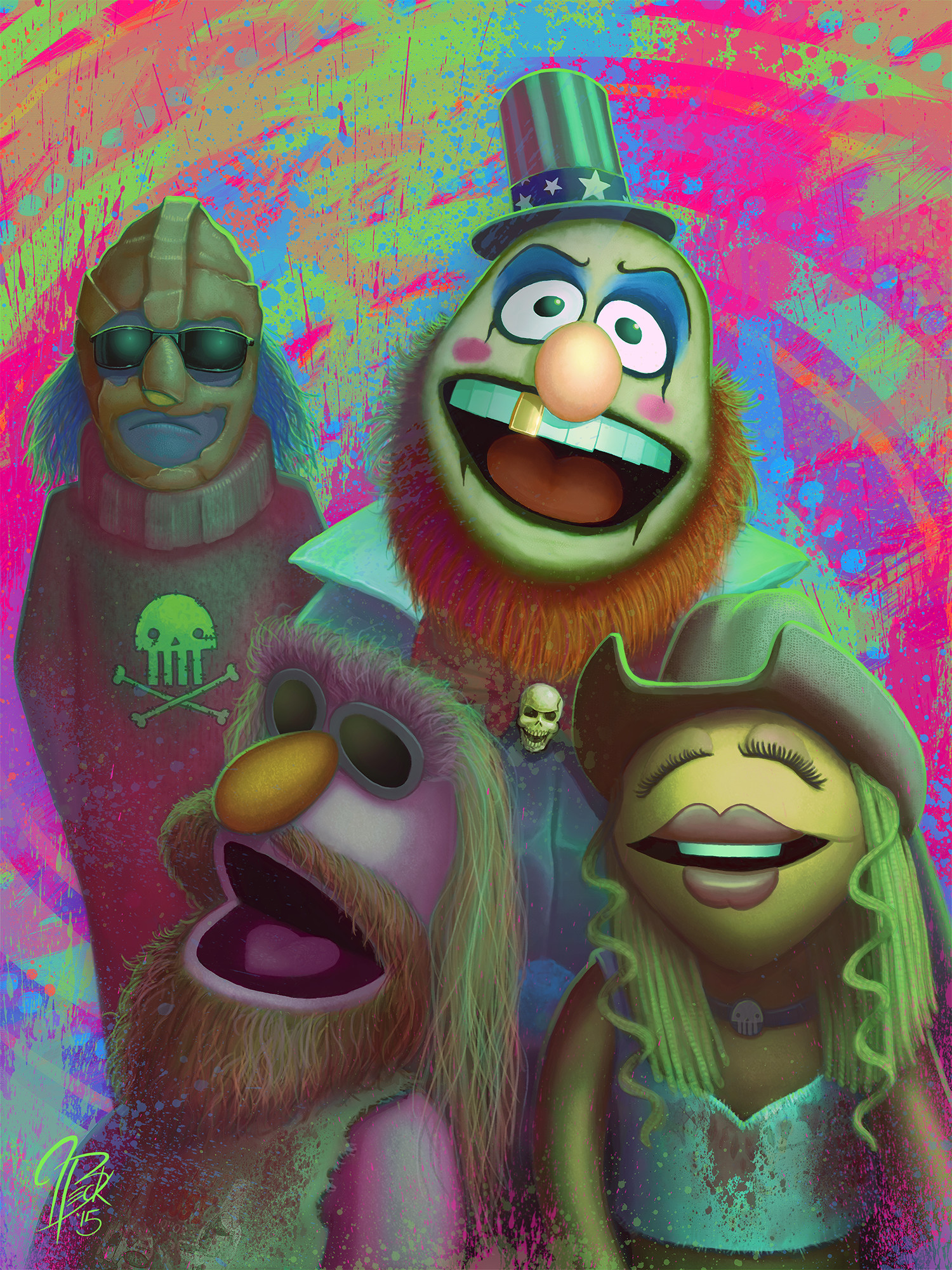 Electric Mayhem as Capt. Spaulding and the Firefly Family