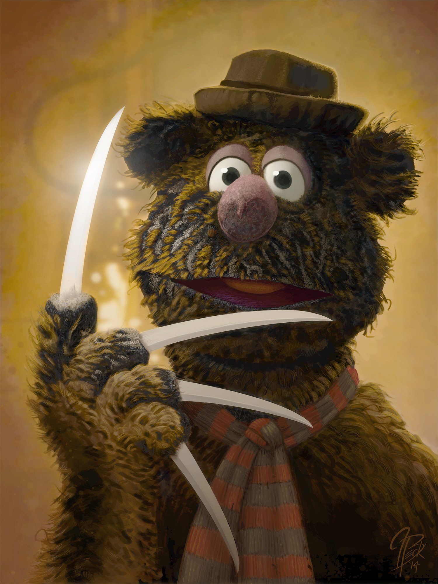 Fozzie as Freddy Krueger