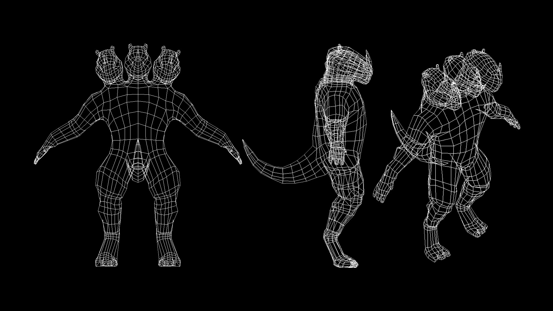 Retopologised Wireframe