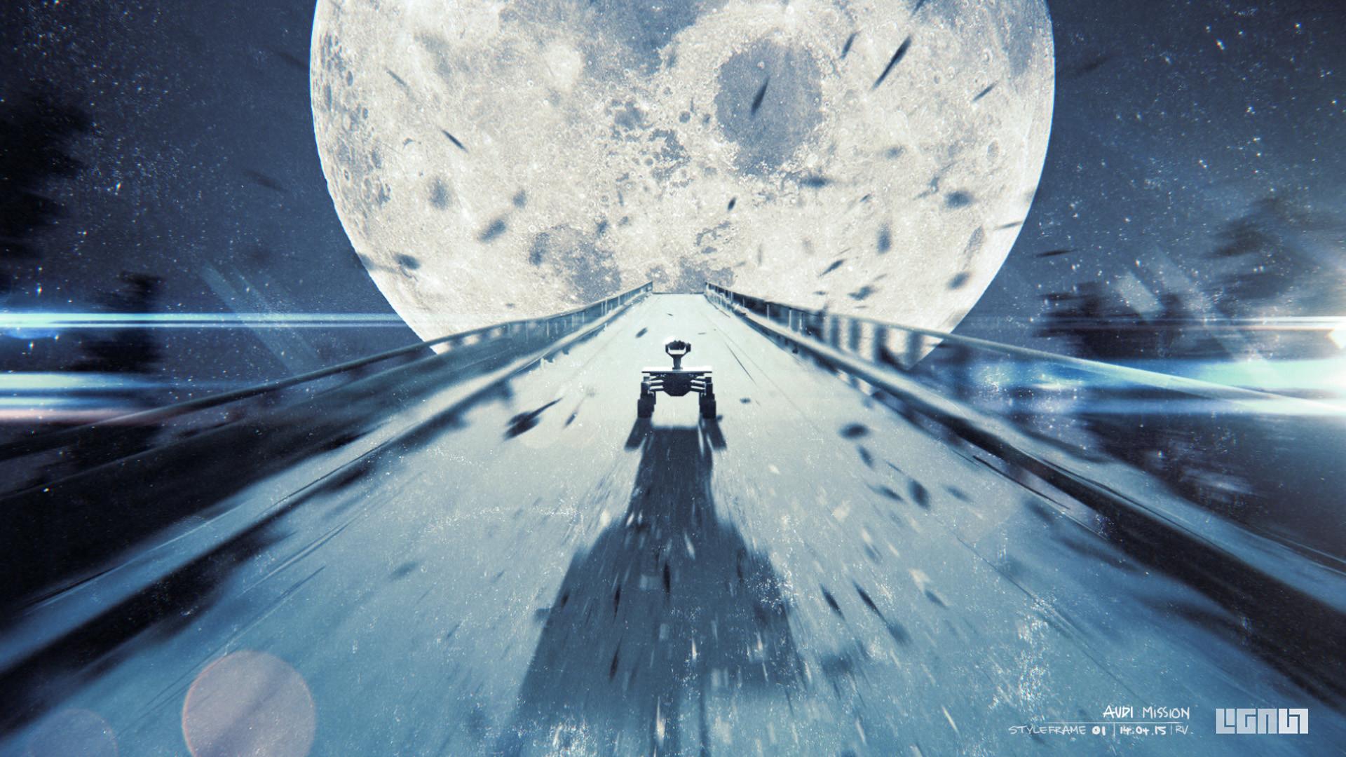 ArtStation - AUDI Mission To Moon // Storyboard & Styleframe ...