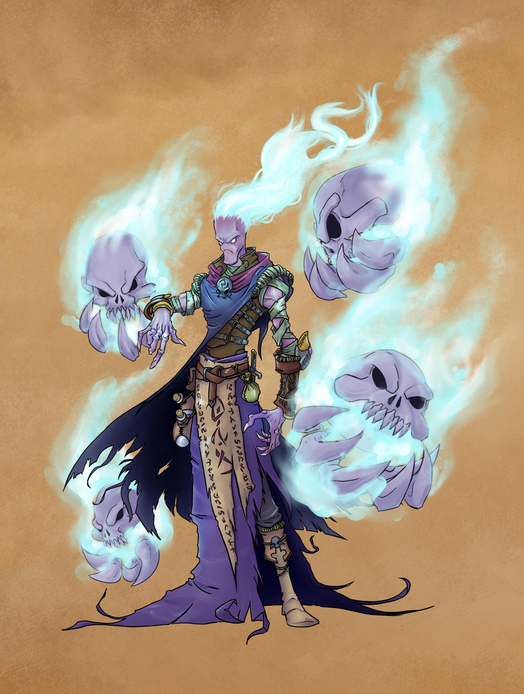 Lukas hagg battlechasers conjurer