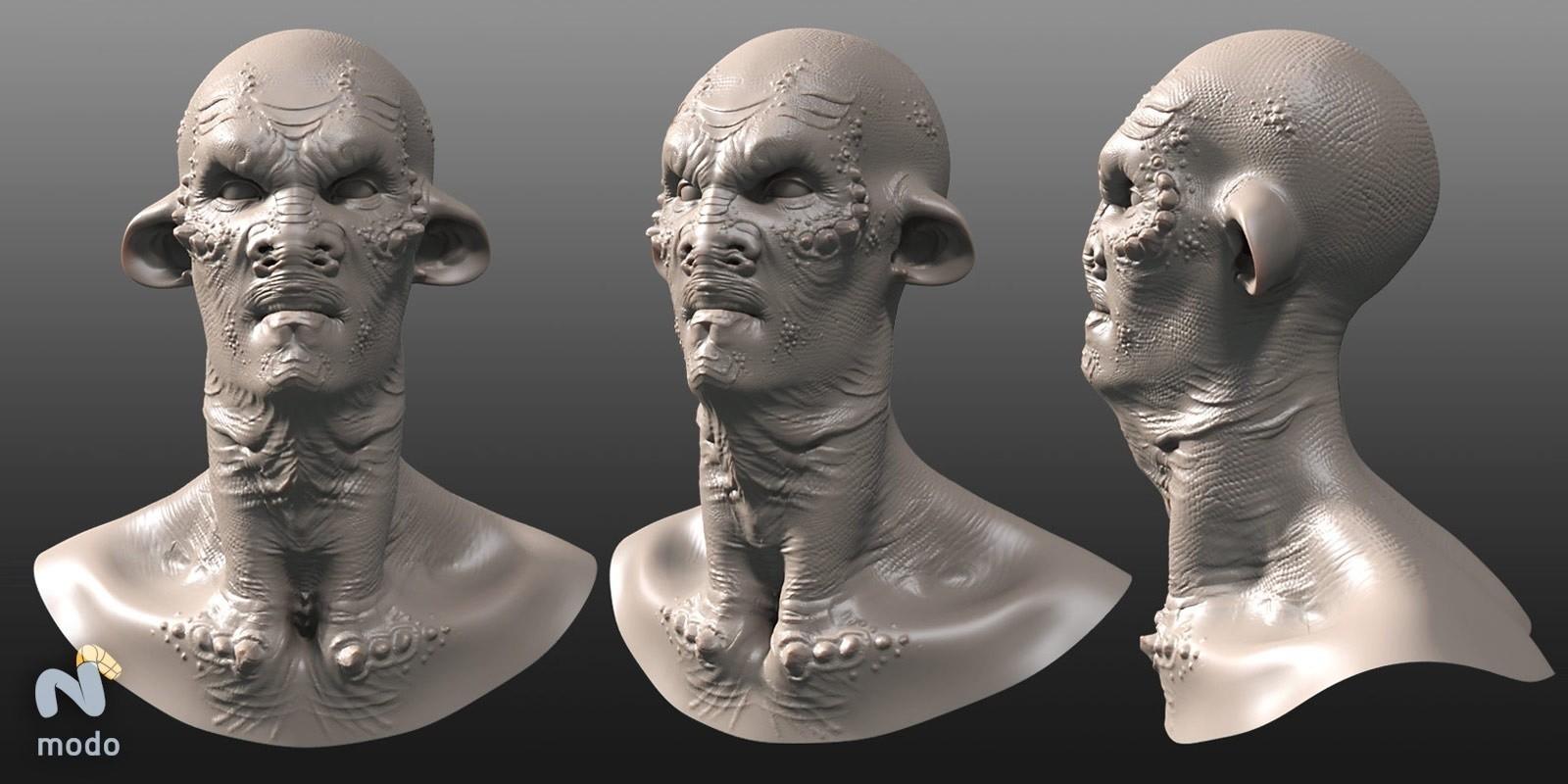 Zoltan korcsok creature portrait sculpt
