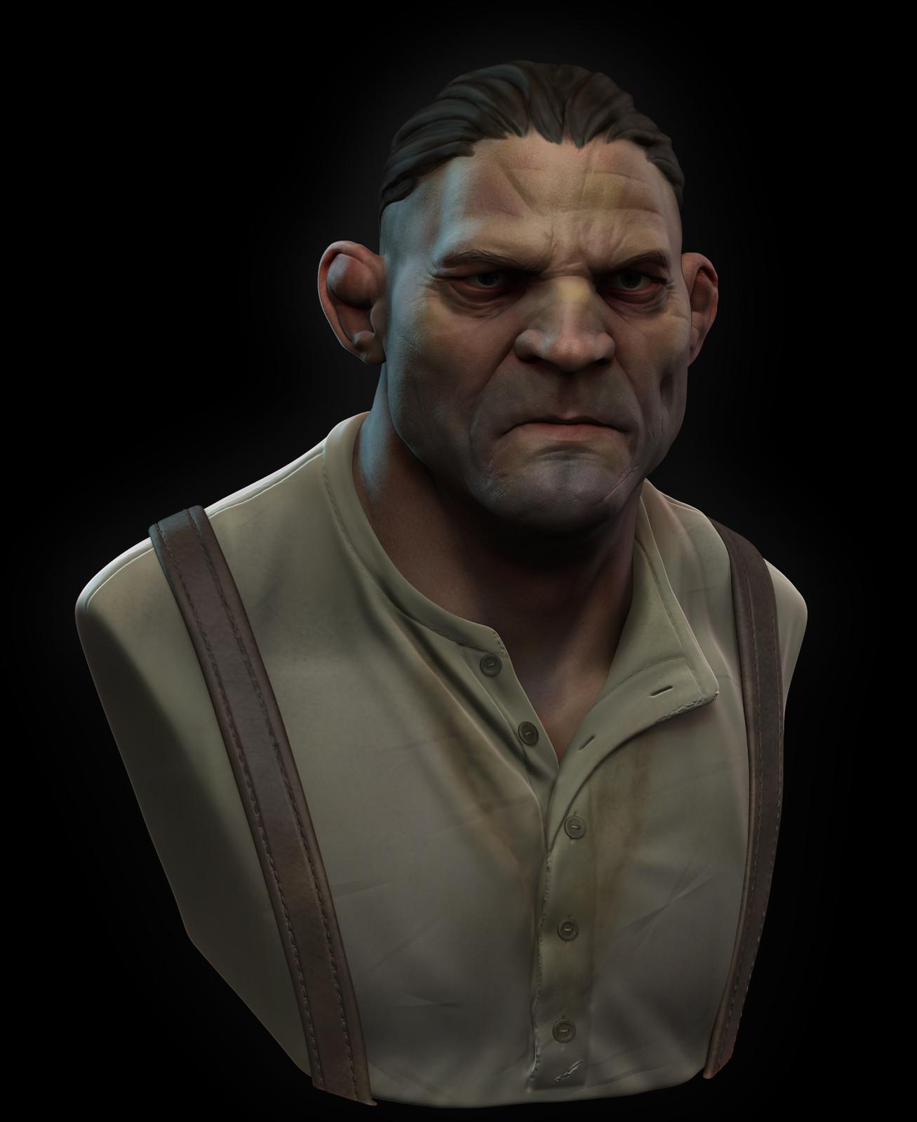 Brawler - Stylized Character Bust