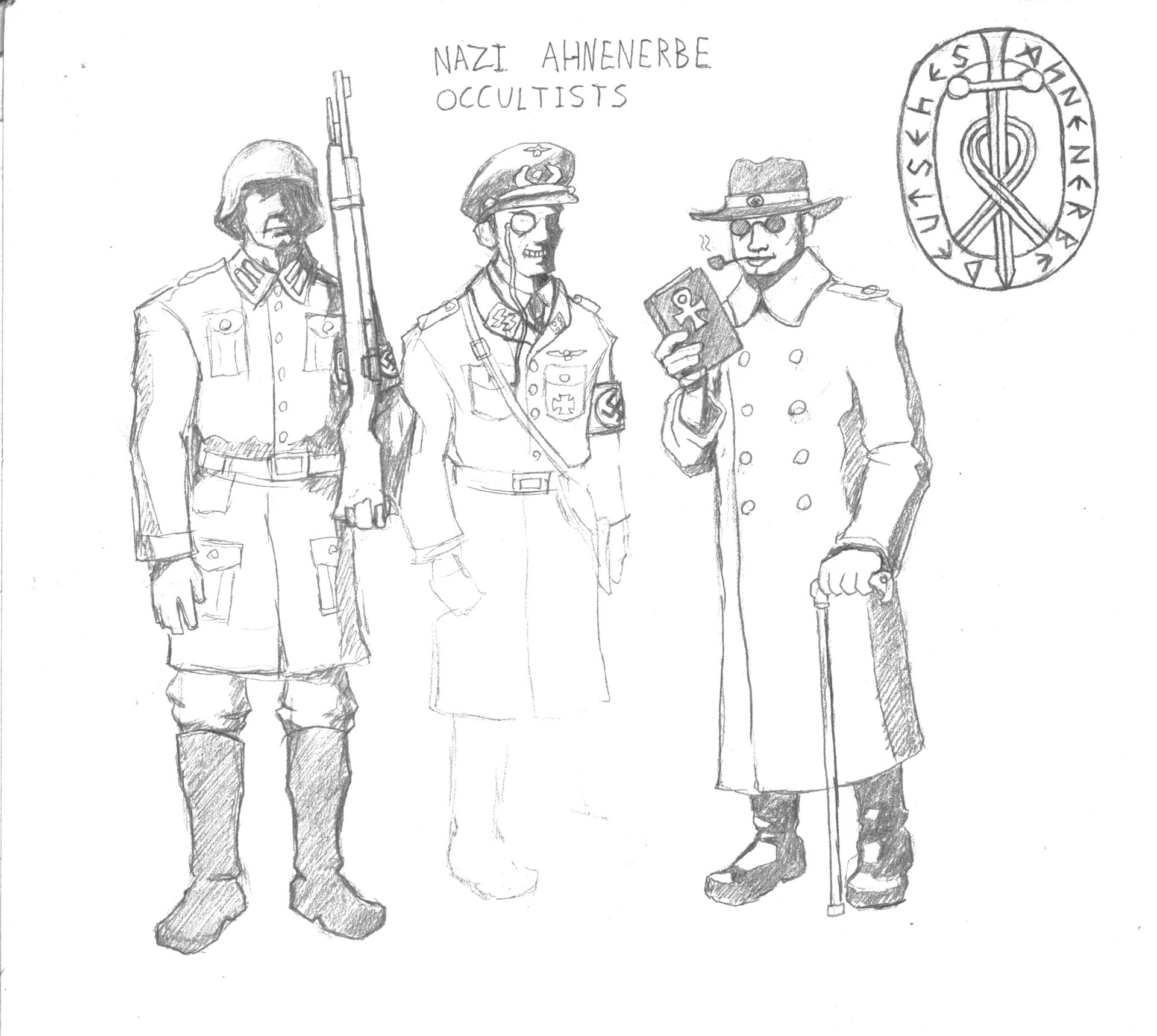 Patrick weck nazis sketch 1