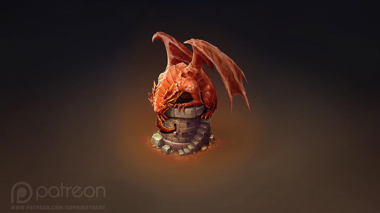 Sephiroth art dragon