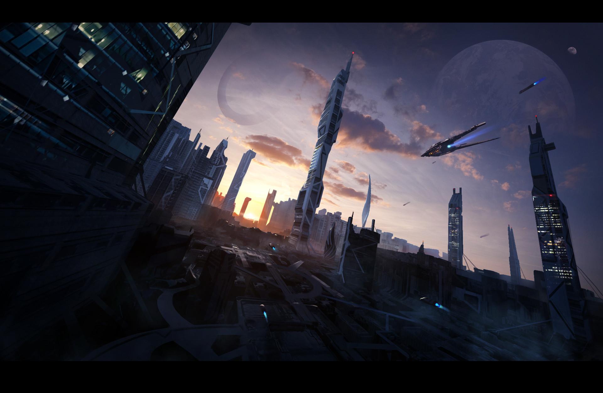 Sathish kumar futuristic cityscape final hw1