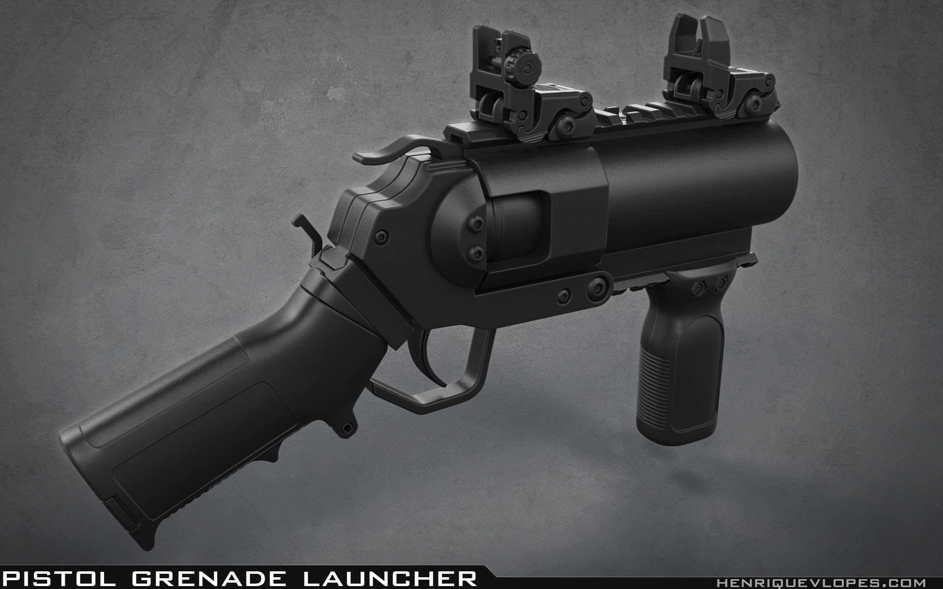 Henrique lopes pistol grenade launcher high 01