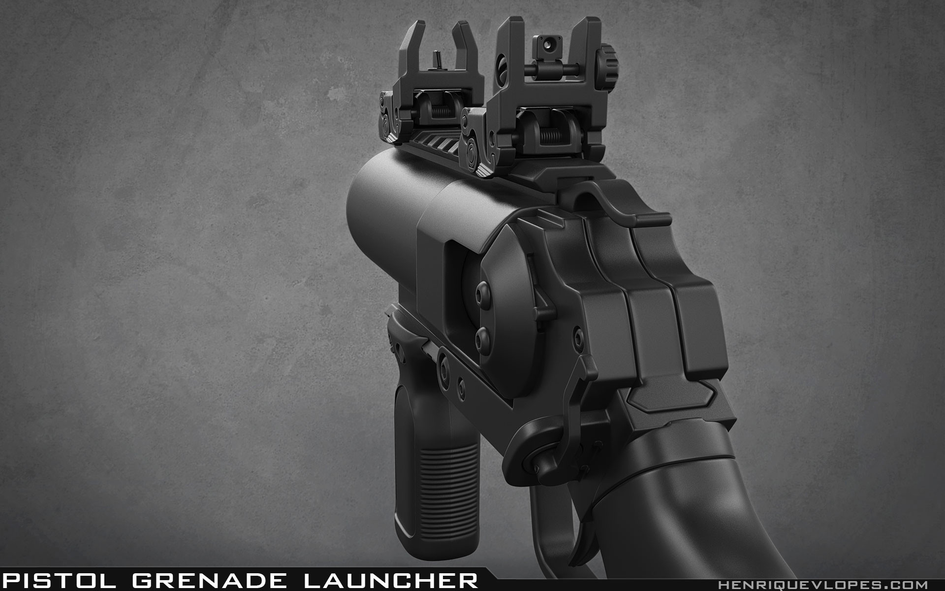 Henrique lopes pistol grenade launcher high 03