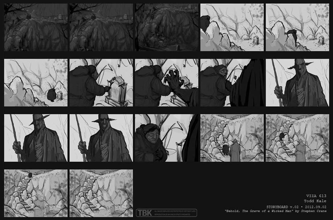Storyboards for 30 second animated short film