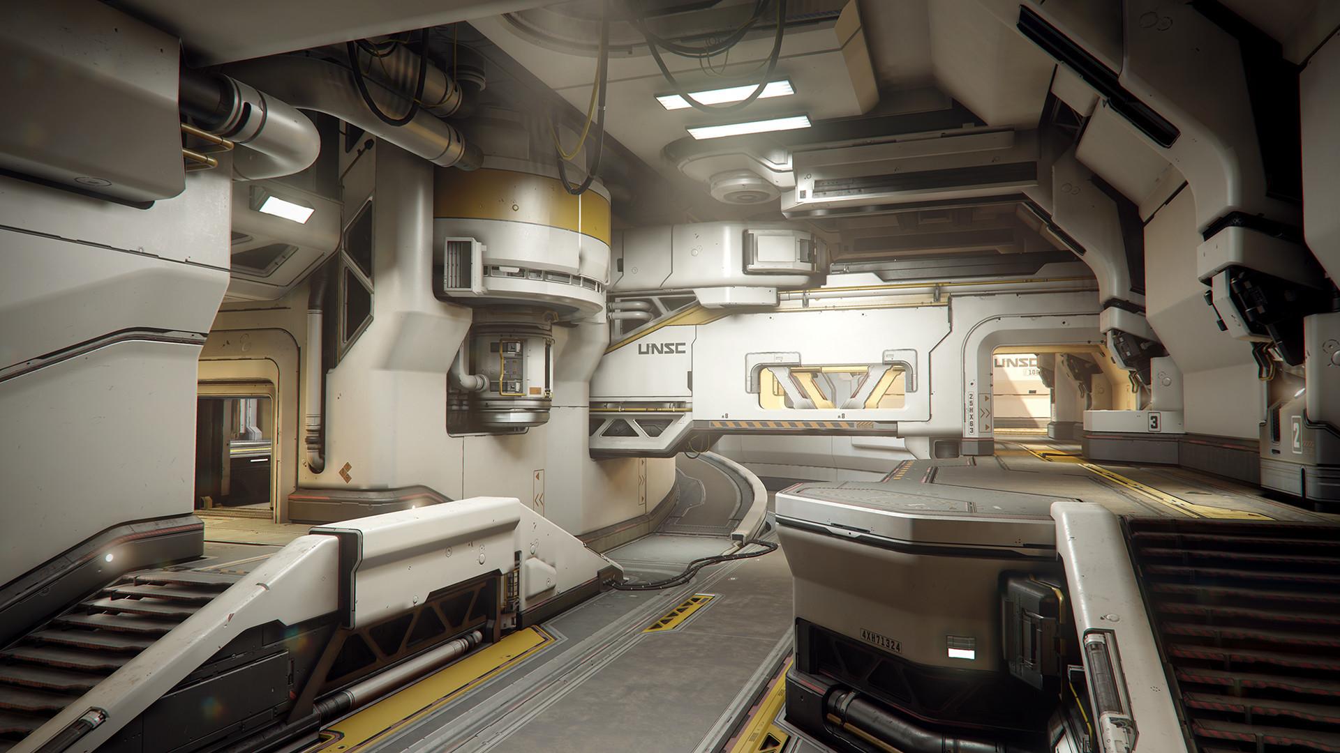 ArtStation Warzone Homebase Interior Halo 5 Guardians Mark