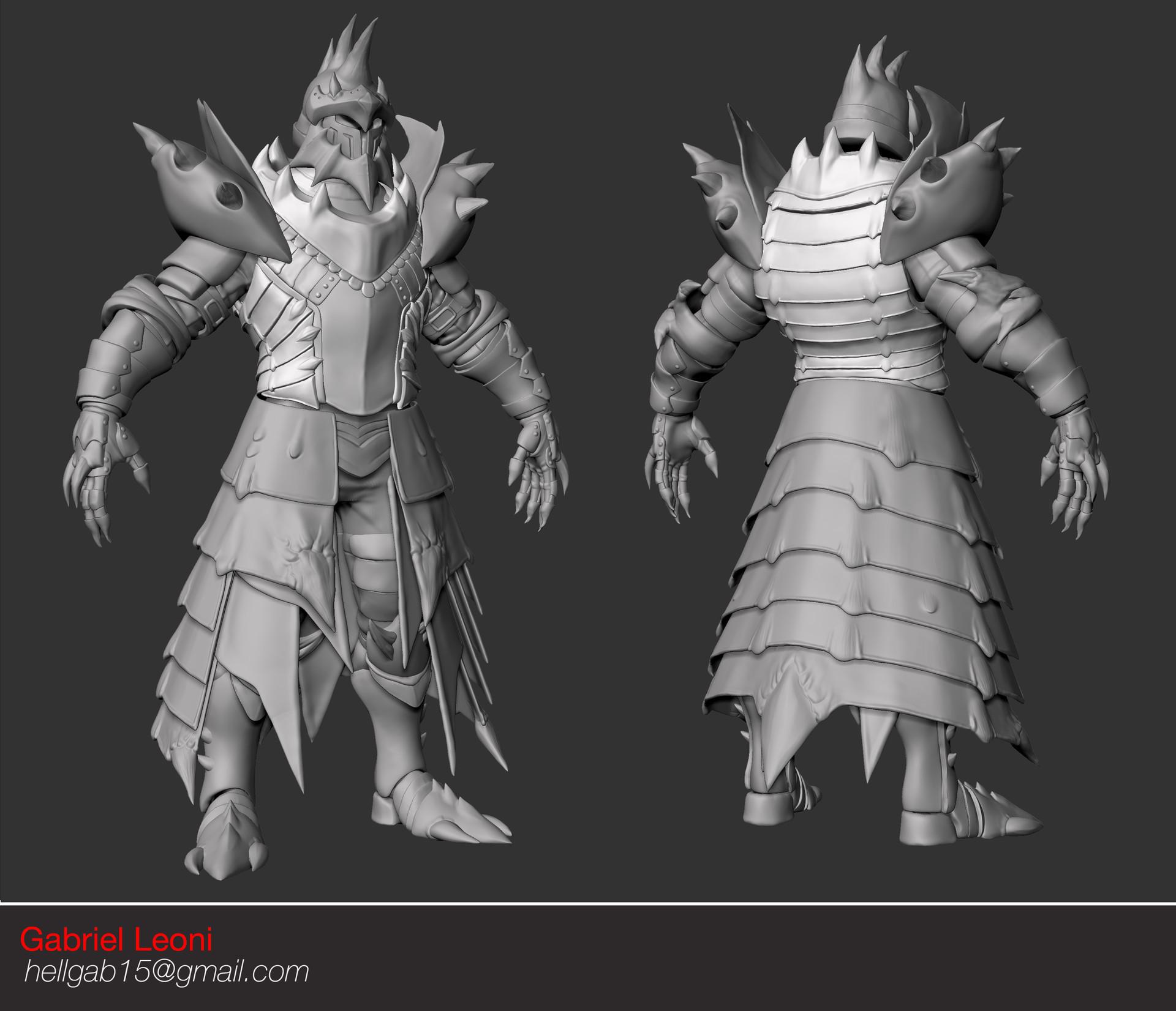 Gabriel Leoni Monster Hunter Lagiacrus Armor Study