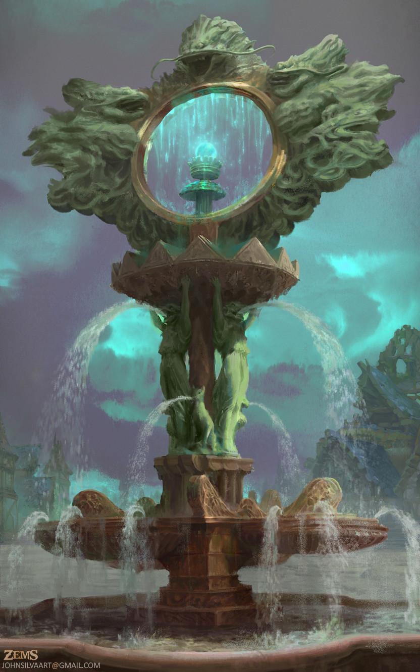 John silva fountain overflow by johnsilva d9eoe0w