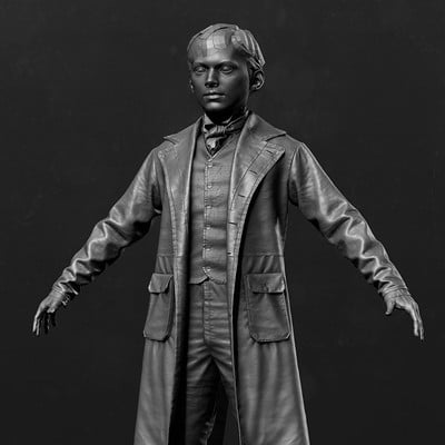 Assassin's Creed Syndicate - Arthur Conan Doyle zbrush