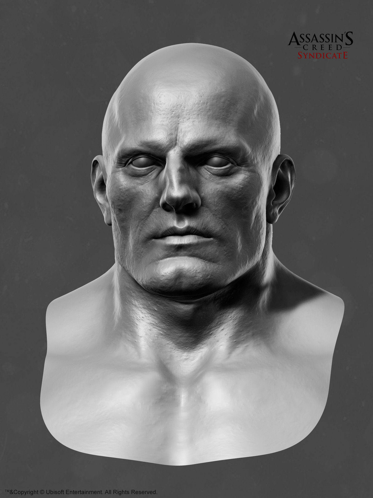 Mathieu goulet zbrush head brute front