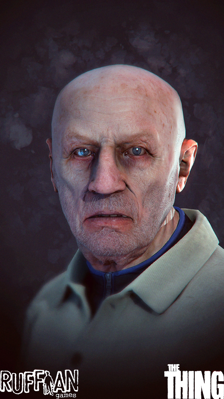 Rough - but only- pass on the character to test a full face wrinkle system we developed in UE4.