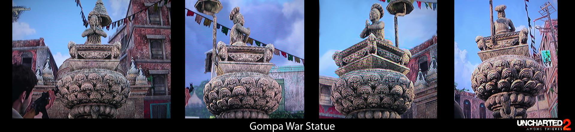 Jin hao villa gompa war statue
