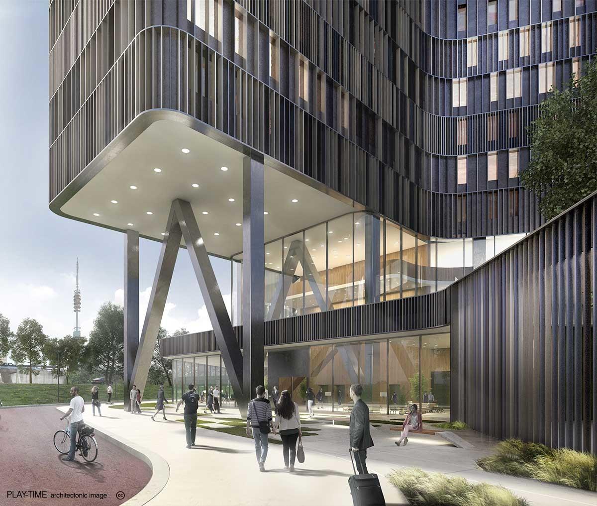 Play time architectonic image mecanoo amsterdam rai hotel 02
