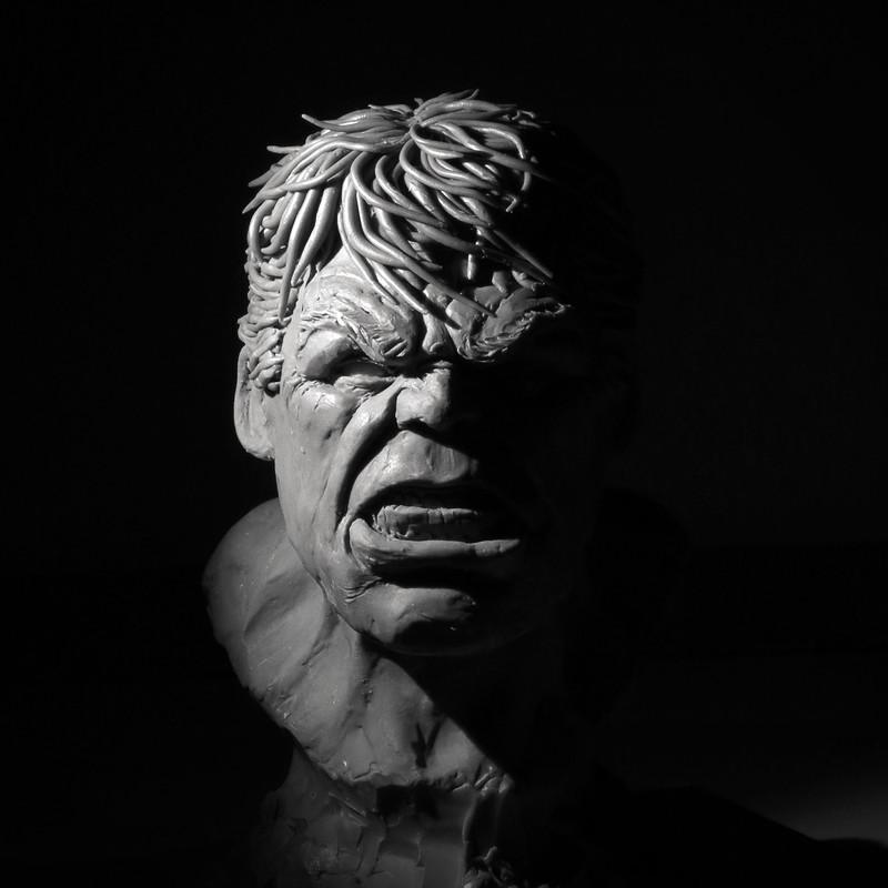 Hulk bust - clay sculpt