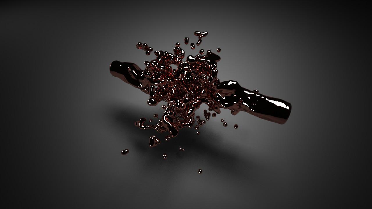 Bronze liquid 9 by hugo matilde