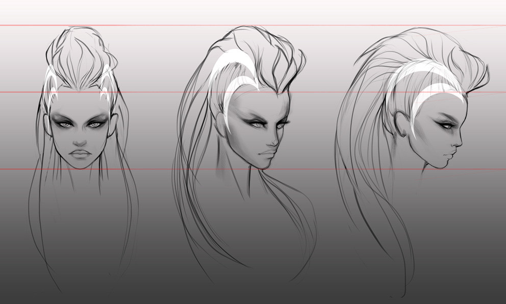 Hair Sketches 2