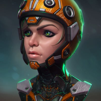 Andy chin scifi girl comp