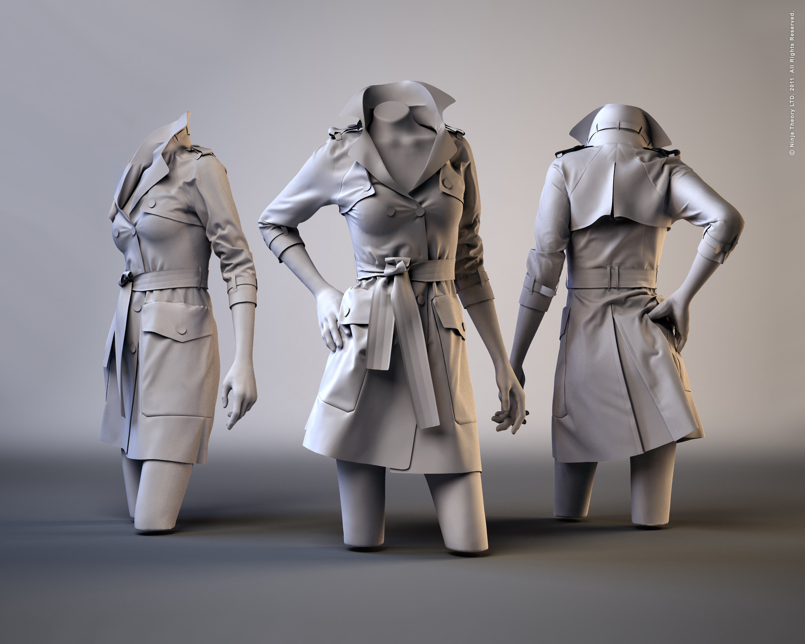 Trench Coat in Marvelous Designer