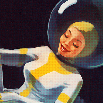 Clementine frere space pinup