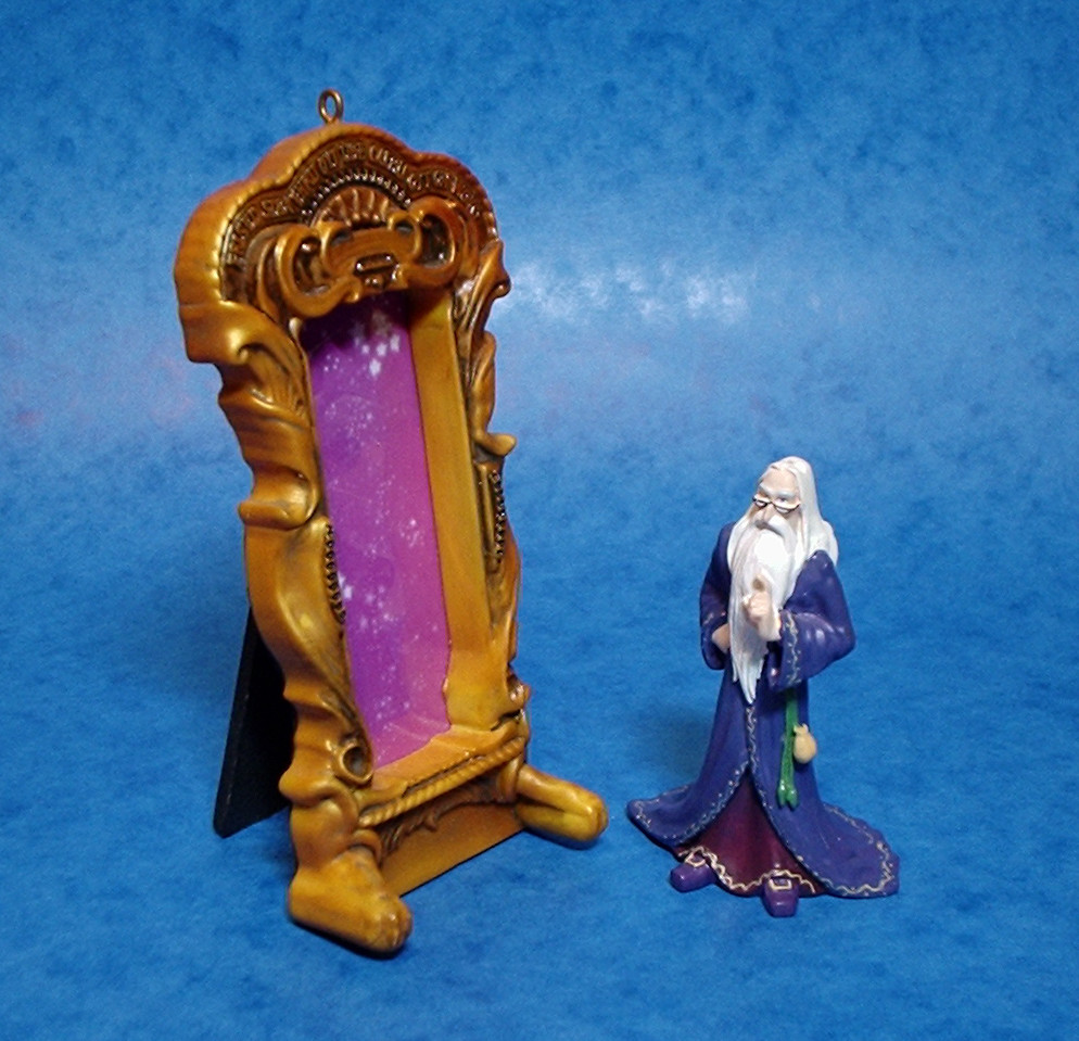 "Mirror of Erised and Dumbledore Tree Ornament - Virtual Sculpt - 3"" tall resin"