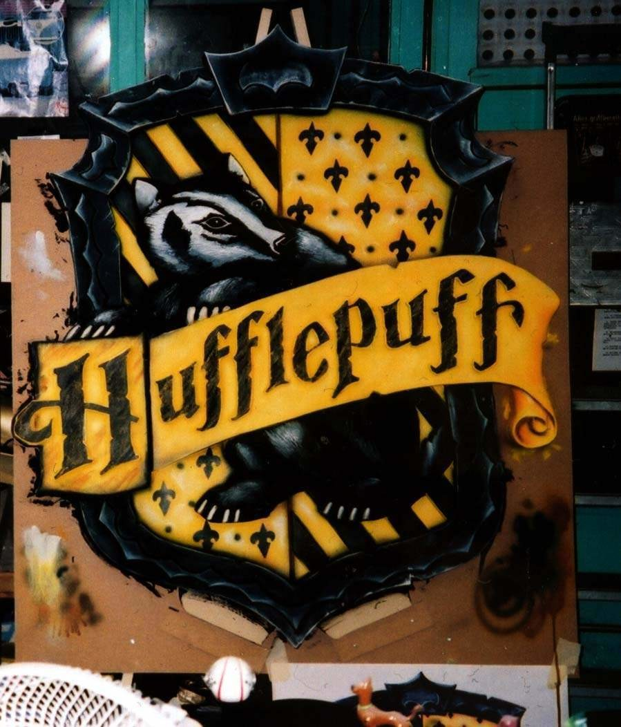 Hufflepuff House Shield - 5 1/2 foot Shield made from carving foam - for Promo tour for first film