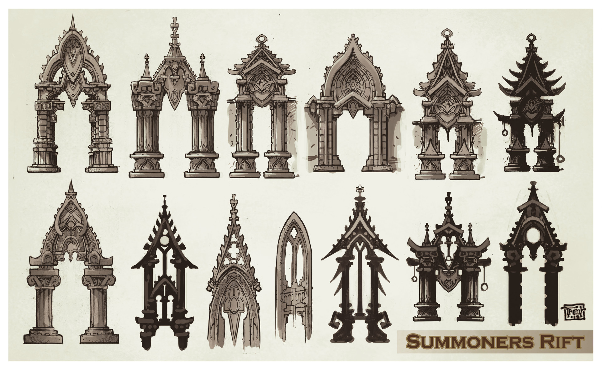 Artstation League Of Legends Summoners Rift Update Architecture