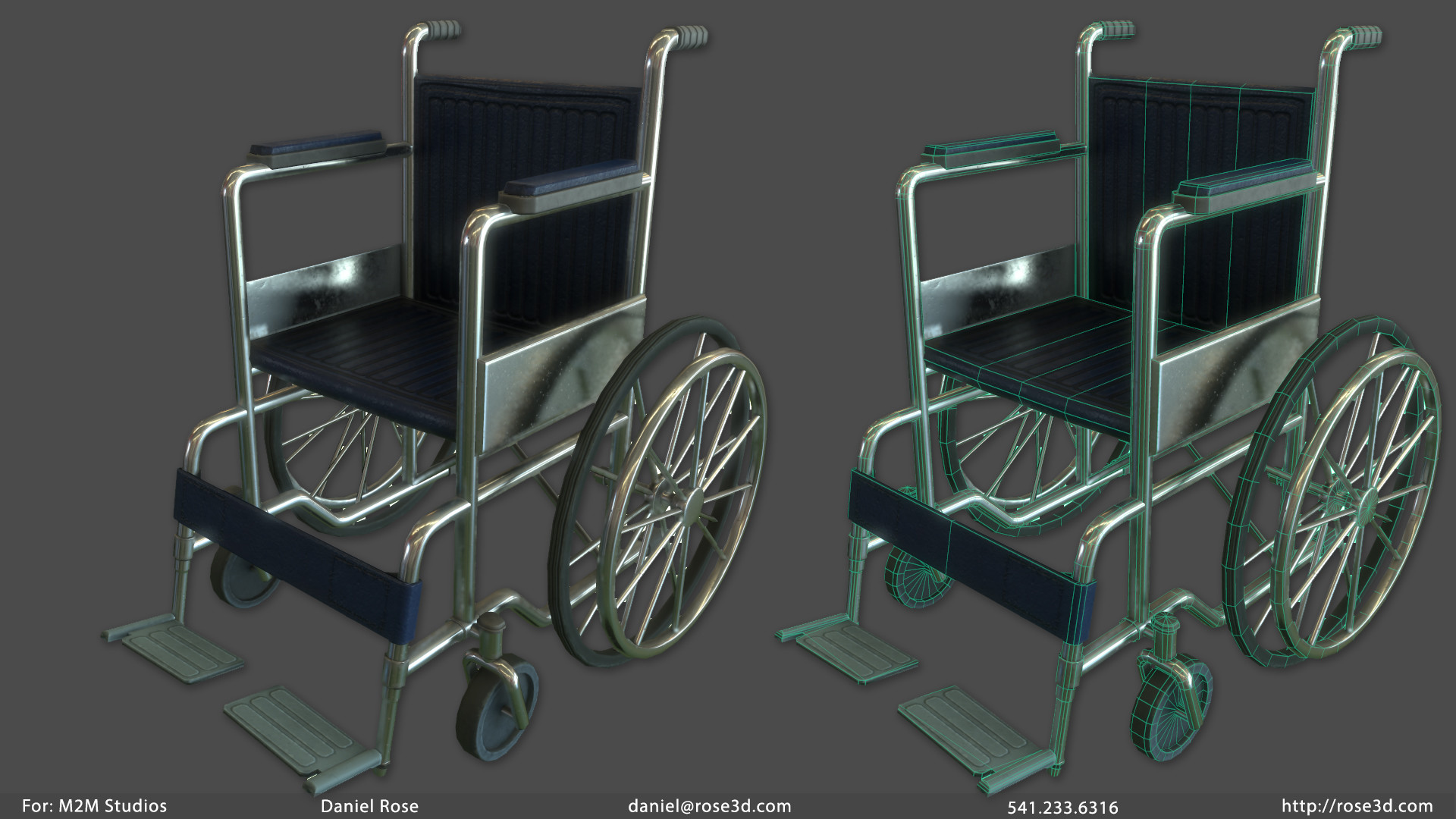 Daniel rose wheelchair prop