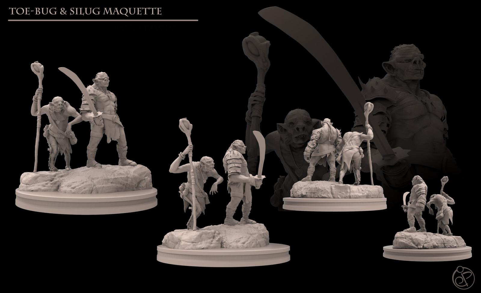 Toebug and Silug - Production Maquettes