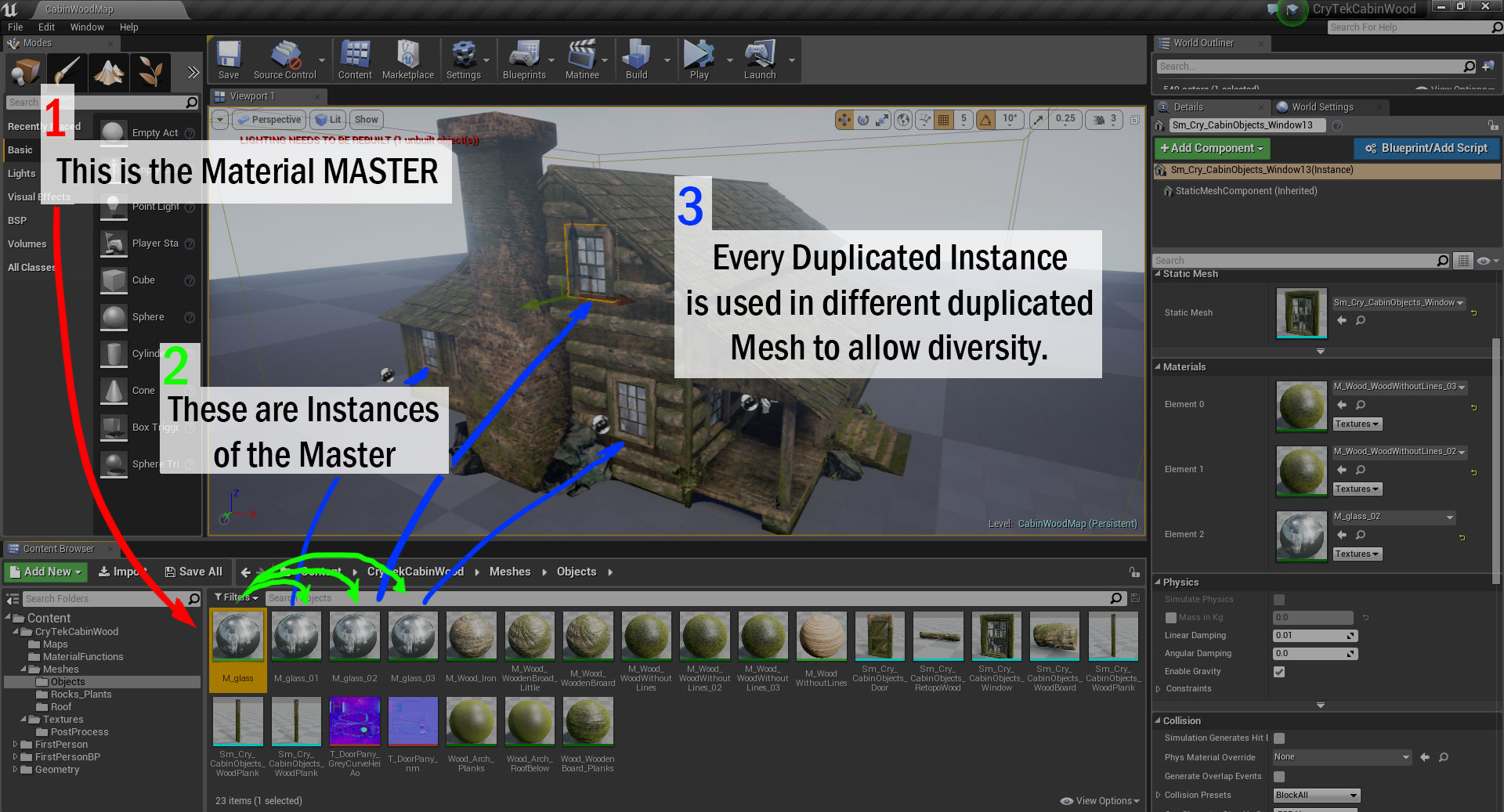 1rst part of  the explanation of how I work as environment artist in UE4