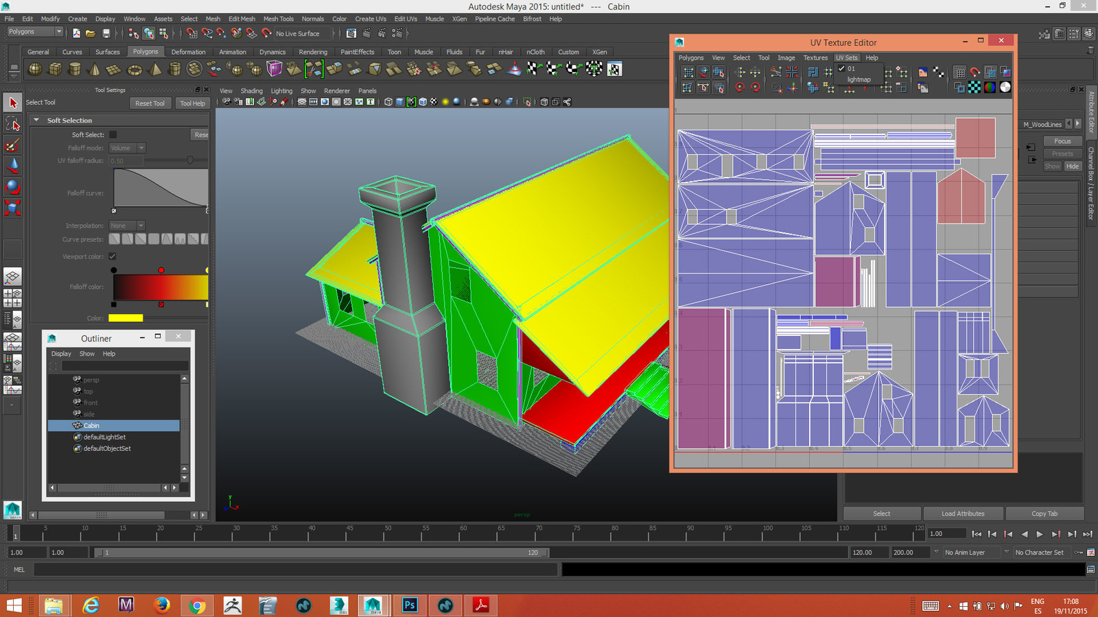 Cabin Wood with his Uv Map