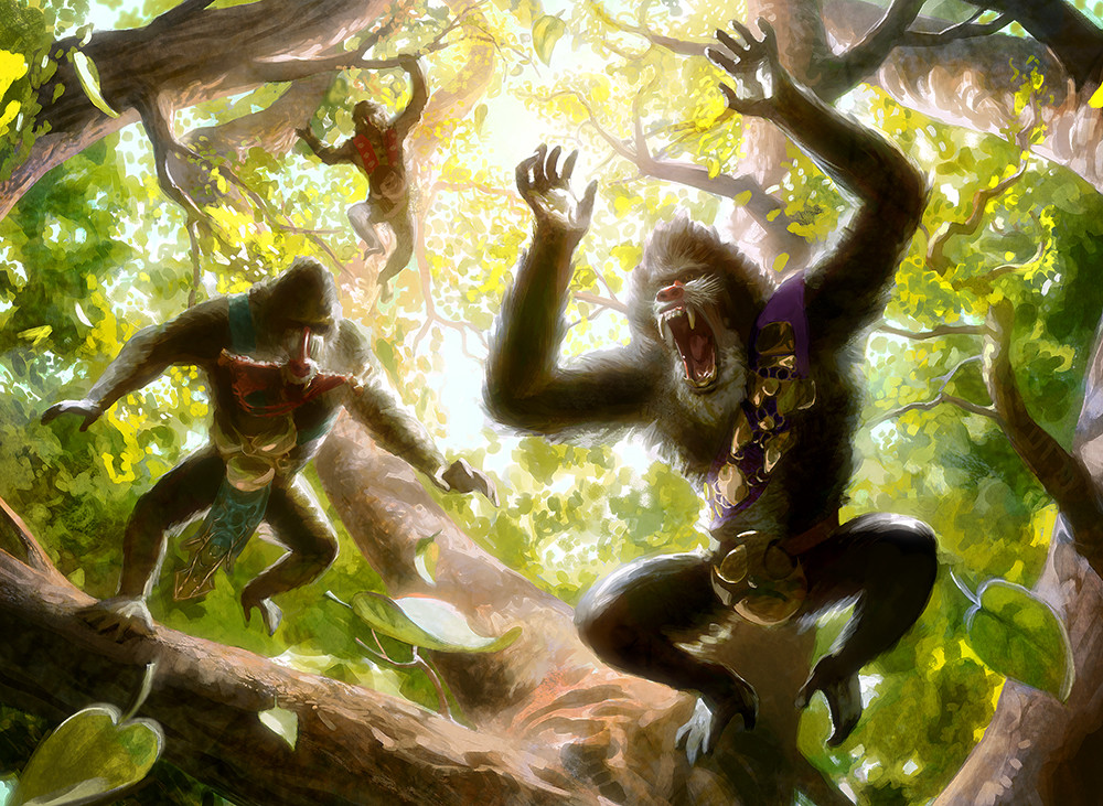 """Hooting Mandrills"" Magic the Gathering"