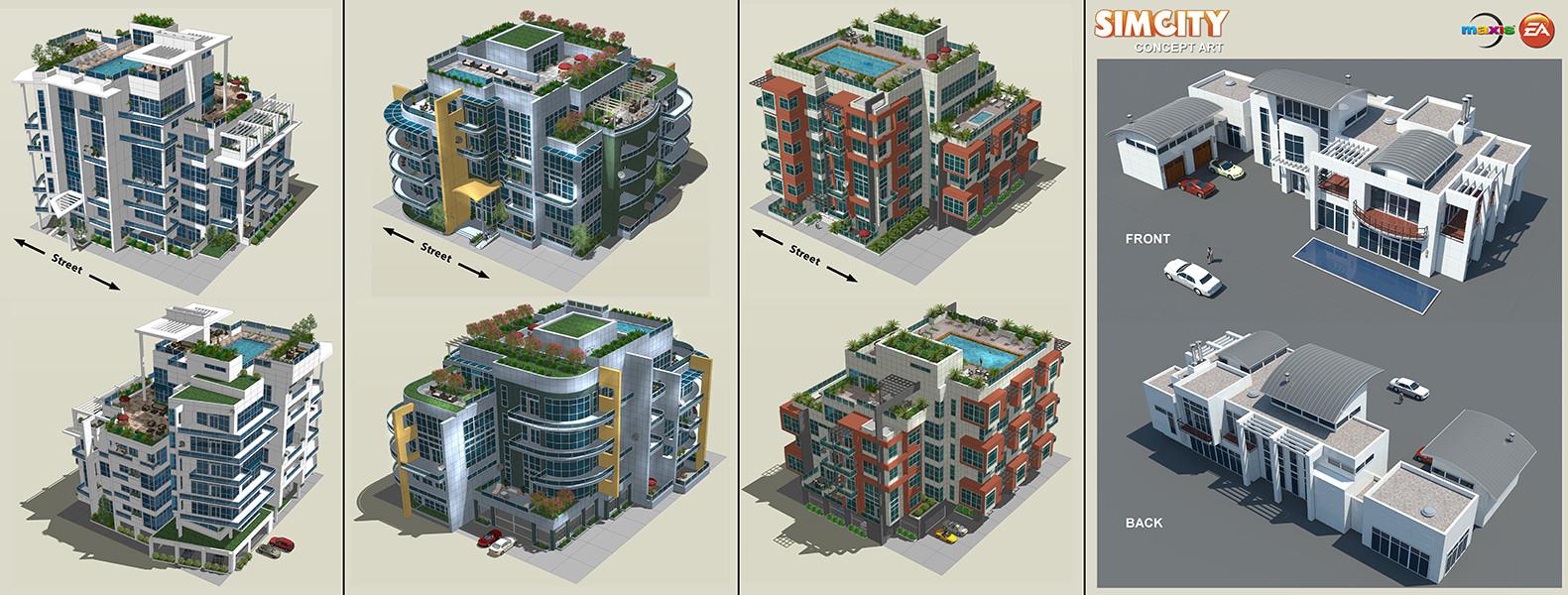 Ken Nguyen - Simcity - Architecture Concepts 02