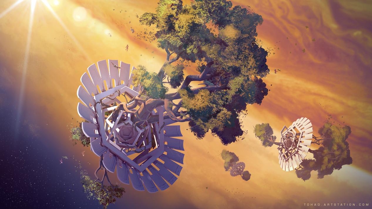 Giant hydroponic on Jupiter