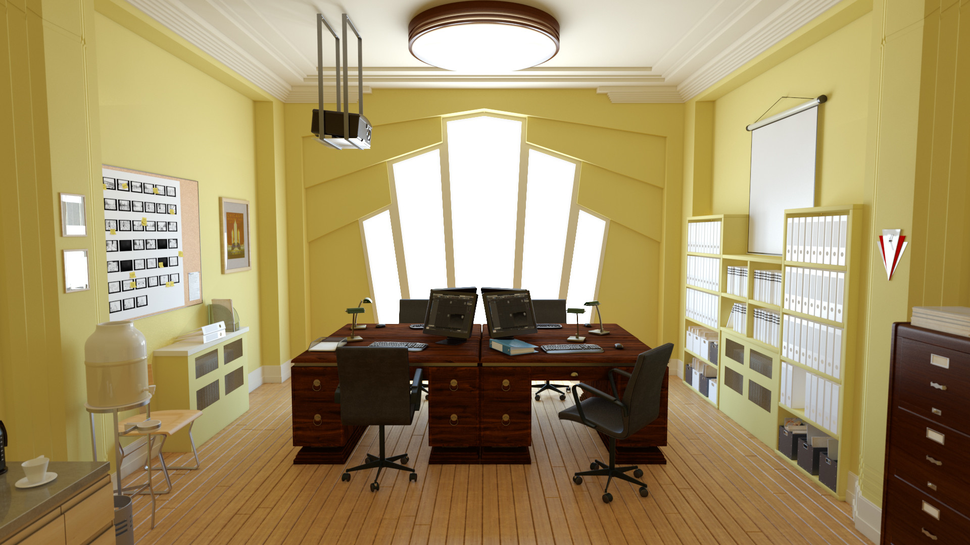 Charmant Office Space Scene_01