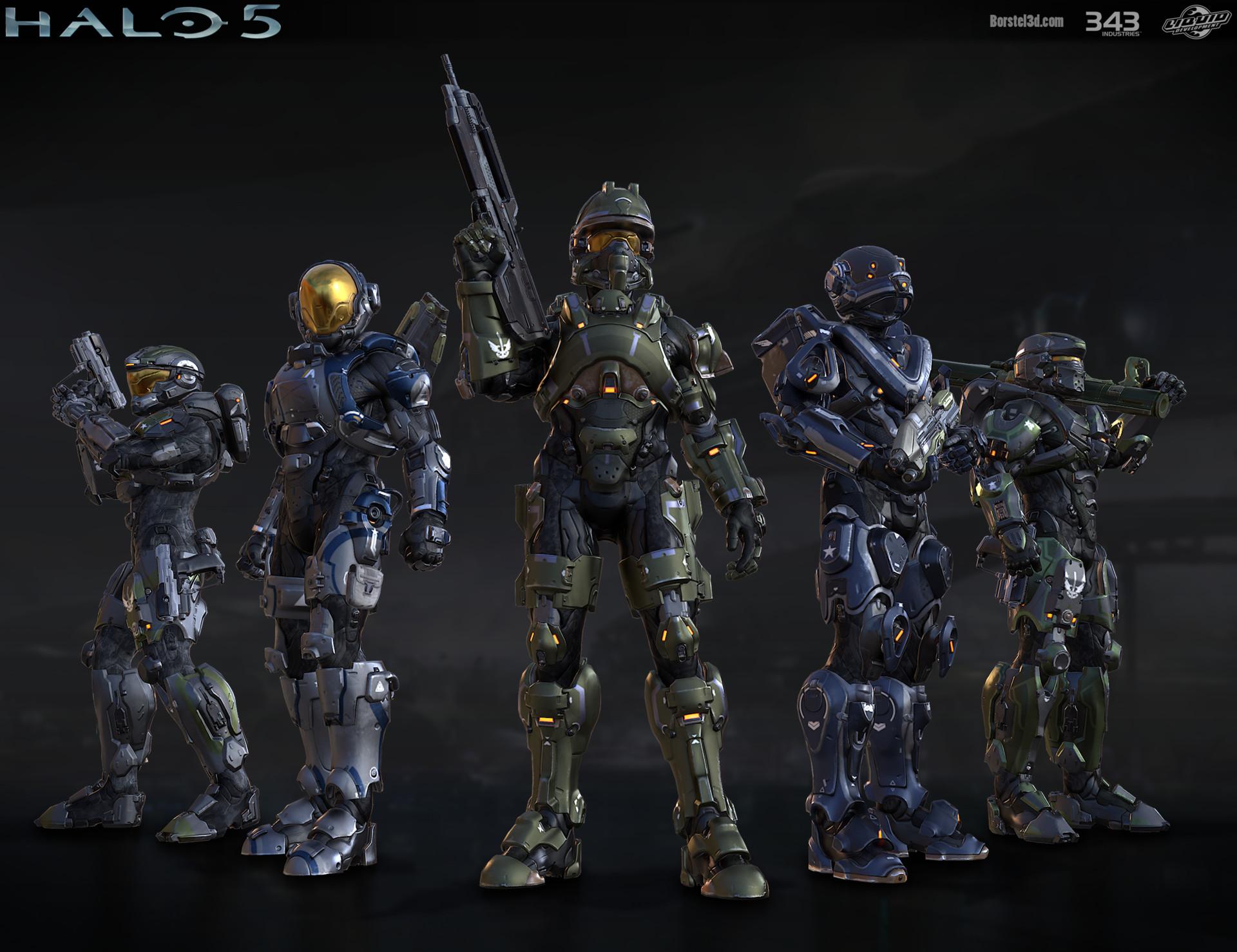 ArtStation - Halo 5: multiplayer group shot, Mark von Borstel